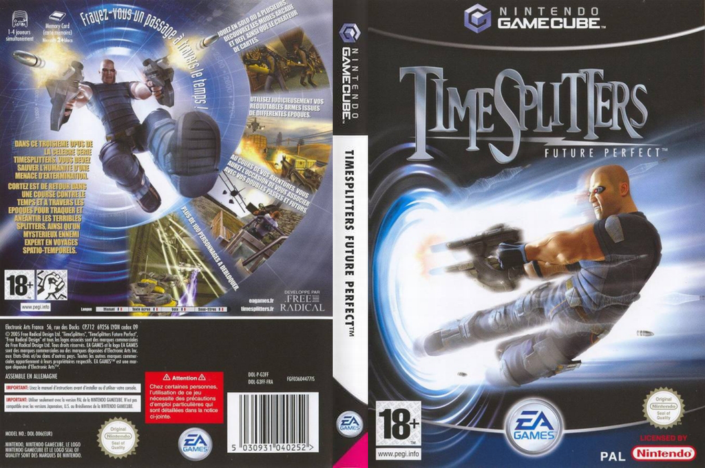 TimeSplitters Future Perfect Cover GameCube